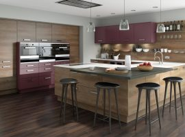 Linear Grey Nebraska Oak & Setosa Painted Aubergine